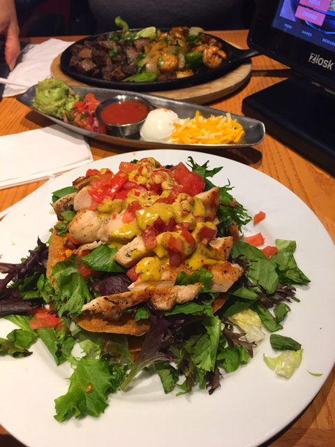 Chili's Santa Fe Chicken Salad Chicken and shrimp fajitas
